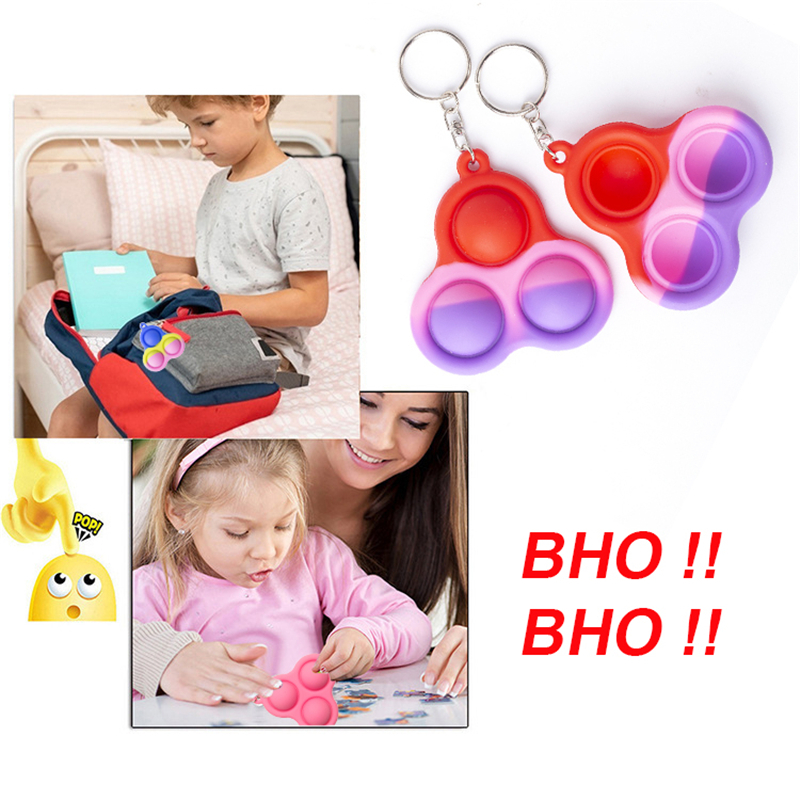 Fidget Simple Dimple Toy Keychain Fat Brain Toys Stress Relief Hand Toys for Kids Adults Early Educational Toy Fidget Keychain img4