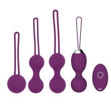 5 sztuk pochwy dokręcić ćwiczenia kulki kegla 10 prędkości wibracyjne jajka silikonowe Ben Wa Ball G Spot wibrator seks erotyczny zabawki dla kobiet