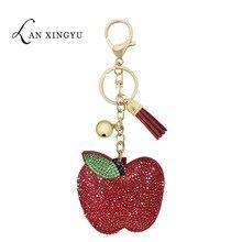 Прямая с фабрики корейский флис многоцветный брелок с яблоком кулон девушки сумка с кисточкой с узорами фрукты ювелирные изделия