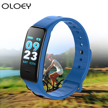 цена на Color Screen Smart Wristband Heart Rate Monitor Fitness Bracelet Waterproof Sport Tracker Pedometer Blood Pressure Oxygen Watch