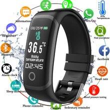 2020 Body Temperature Smart Fitness Bracelet Sport Smart Band Watch Ip67 Waterproof Pedometer Fitness Tracker Blood Pressure
