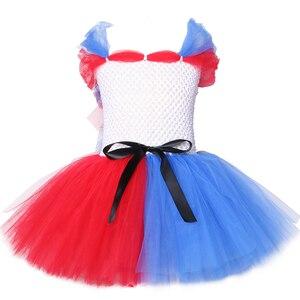 Отряд Самоубийц, платье-пачка Harley Quinn, Нарядное вечернее платье белого и красного цвета для девочек, карнавальные костюмы на Хэллоуин для де...