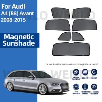 Dla Audi A4 B8 AVANT 2008-2015 magnetyczna osłona przeciwsłoneczna na boczną szybę składane osłony przeciwsłoneczne zasłony w ochrona na pas samochodowy wnętrze tanie i dobre opinie wenlo z włókien syntetycznych CN (pochodzenie) Zwykłe Side Window Shades Customized Car Window Sun Shade Black Nylon Fiber Mesh