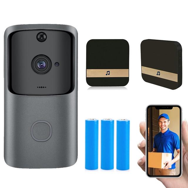 HISMAHO wizjer wbudowaną kamerą wi fi inteligentny wideo z domu domofon dzwonek do drzwi, bezprzewodowy pilot zdalnego dzwonek do drzwi baterii aparatu 720P HD Night Vision