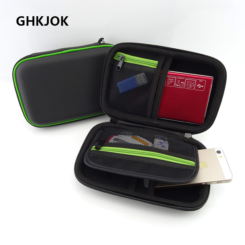 Hard Shell Carrying Storage Travel Case for Powerbank External Hard Drive HDD Electronics Accessories Protect Bag Organizer Box