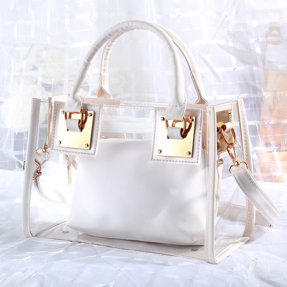 2020 New Luxury Brand Women Crossbody Transparent Bag Clear Jelly Small Tote Messenger Shoulder Bags  PVC Waterproof Handbag
