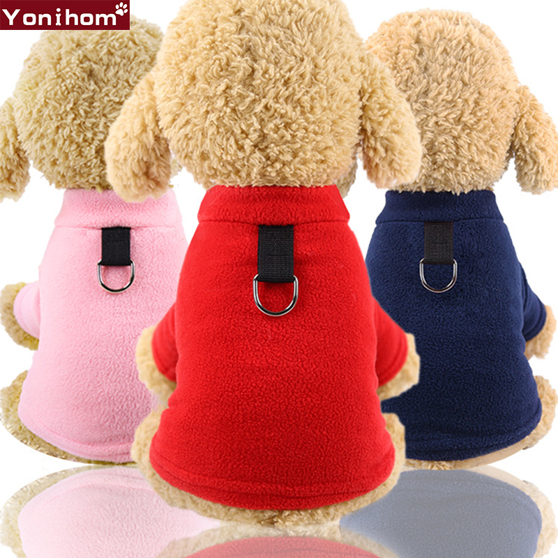Dog Clothes Chihuahua Pet Winter Warm With Collar Fashion Clothing for Small Dogs Cats Puppy