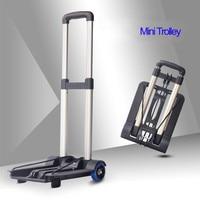 1.3kg mini carrinho portátil dobrável que rola carrinhos de compras e carrinhos de bagagem para os idosos e as mulheres família viagem compras|Kits de emergência| |  -