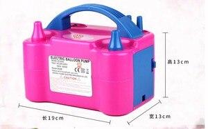 Image 5 - 高電圧ダブル穴acインフレータブル電動バルーンポンプ空気バルーンポンプ、電動バルーンインフレータポンプポータブル送風機