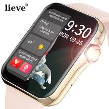 Relógio inteligente feminino tela cheia de toque hd relógio inteligente esporte rastreador chamando smartwatch freqüência cardíaca bp ecg com reprodução de música relógio