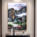 Dropship Study Office Landscape Painting Light Luxury Upscale Sofa Background Wall Metal Frame Painting