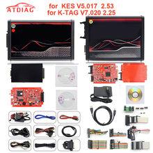 Para kess ktag k tag v7.020 kess v2.53 v2 v5.017 sw v2.25 v2.47 2.53 mestre ecu chip tuning ferramenta K-TAG 7.020 online