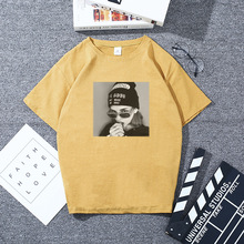 Female t shirt loose T was thin students wild street T-shirt trend short-sleeved section lovers women M-3XL
