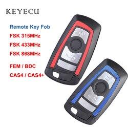 Keyecu 4 przycisk klucz zdalny FSK 315/433/868 MHz PCF7953 dla BMW F podwozie FEM/BDC CAS4 CAS4 +  YGOHUF5662  YGOHUF5767  HUF5661