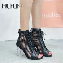 Модные женские ботинки с ремешком на щиколотке; пикантные высокие