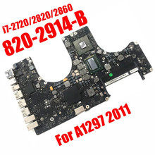 Logic-Board Macbook 820-2914-B PAVILION I7 A1297 Apple for Pro-17 CPU Pro-17