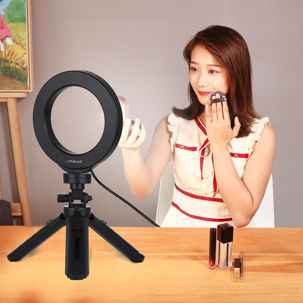 cheapest Ring Light USB 3 Modes LED Ring Video Photography For Mobile phone maquiagem profissional completa