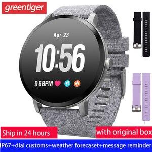 Image 1 - V11 Smart Horloge Mannen Reloj Inteligente Activiteit Fitness Tracker Hartslagmeter Smartwatch IP67 Waterdicht Polsbandje Horloge