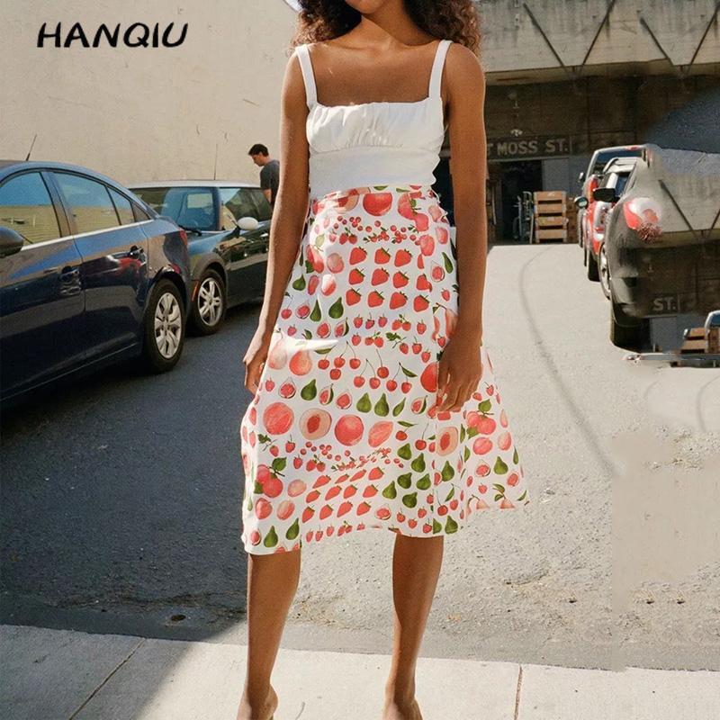 Summer Sweet Kawaii Strawberry Print Skirt Women High Waist Skirt  Streetwear Korean Clothes Elegant White Skirt 2019 Midi Skirt