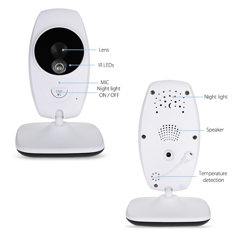 Image 2 - Neng  Wireless Video Baby Monitor Night Vision Camera Video 7 inch LCD Sreen Temperature Sensor 2 Way Audio Talk Nanny Monitor-in Baby Monitors from Security & Protection