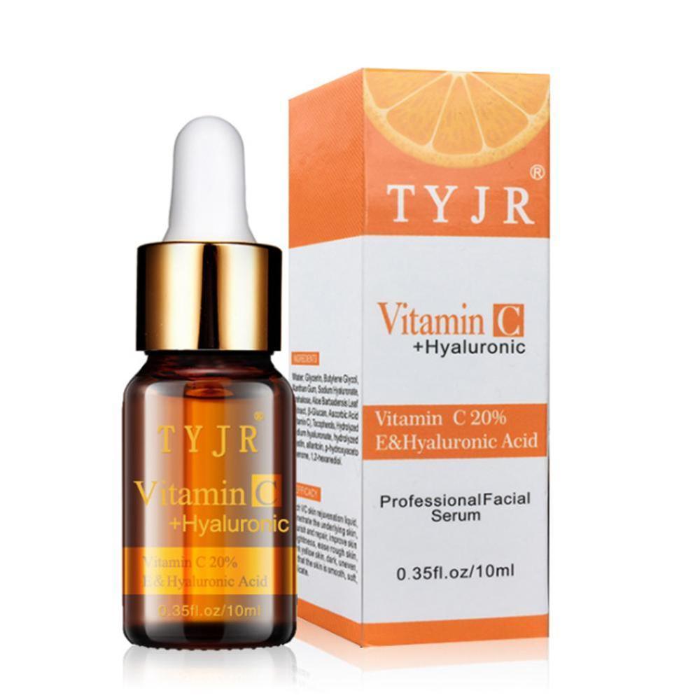 100% Pure Vitamin C Serum Liquid Freckle Removal Acne Scar Hyaluronic Acid Anti-wrinkle Vc Face Serum Oil Fade Dark Spot Essence