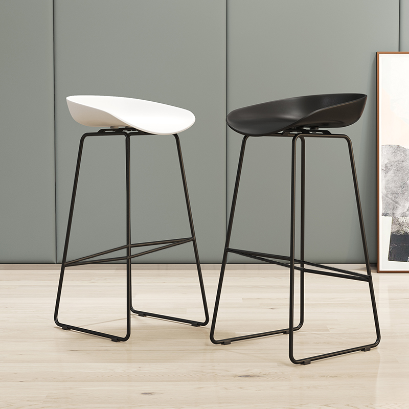 85cm Modern Nordic Bar Stool Wrought Iron Bar Chair Home Back High Chair Creative Cafe Gold Bar Stool