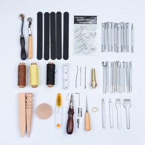 59 Uds. De costura de cuero herramienta para tallar agujas para estampar cuero