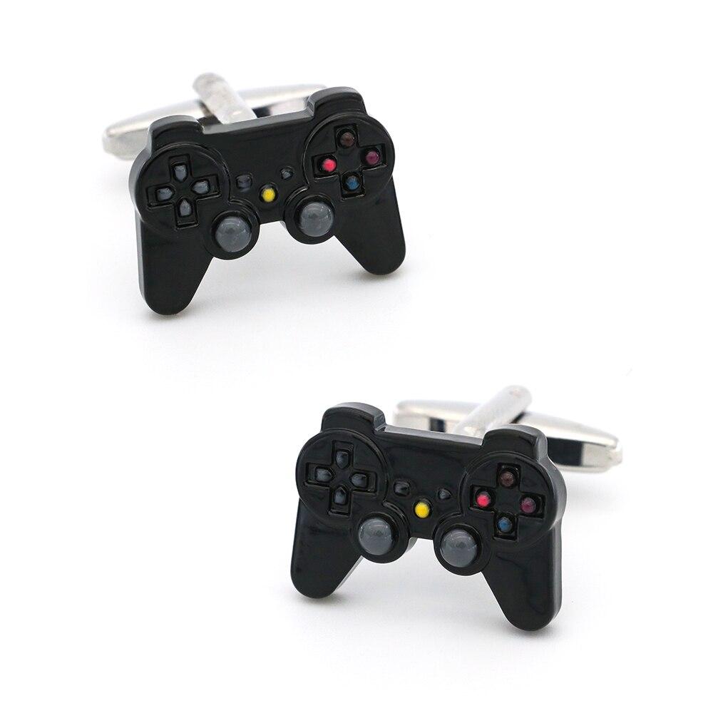 Free Shipping Men's Cufflinks Joystick Design Black Color Quality Copper Cuff Links Wholesale&retail