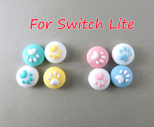 40pcs=10sets For Nintend Switch Switch Lite NS Joy Con Thumbstick Case Cute Cat Paw Claw Thumb Stick Grip Cap Joystick Cover
