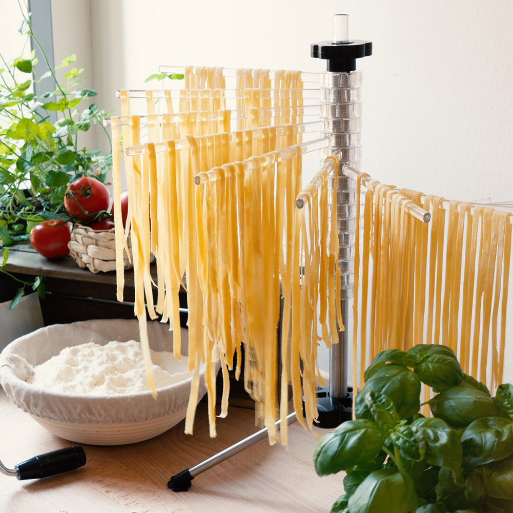 Easy Clean Kitchen Pasta Drying Rack Rotation Hanging Tools Stand Spaghetti Noodle Holder Non Slip Accessories Foldable Manual