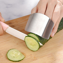 Stainless Steel Hand-Guard for Cutting Vegetables Multi-Purpose Cut-Proof Finger Protector Practical Kitchen Gadget