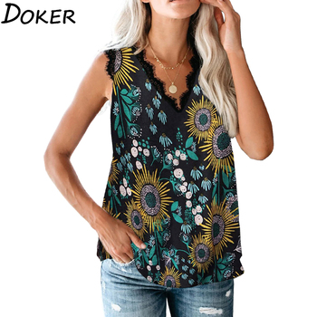2020 New Summer Leopard Print Blouse Women V-neck Sleeveless Off Shoulder Shirt Top Womens Tops And Blouses Casual Ladies Shirts butterfly printed blouse shirts women sexy v neck ladies tops summer off shoulder sleeveless blouses casual blusas femme d30