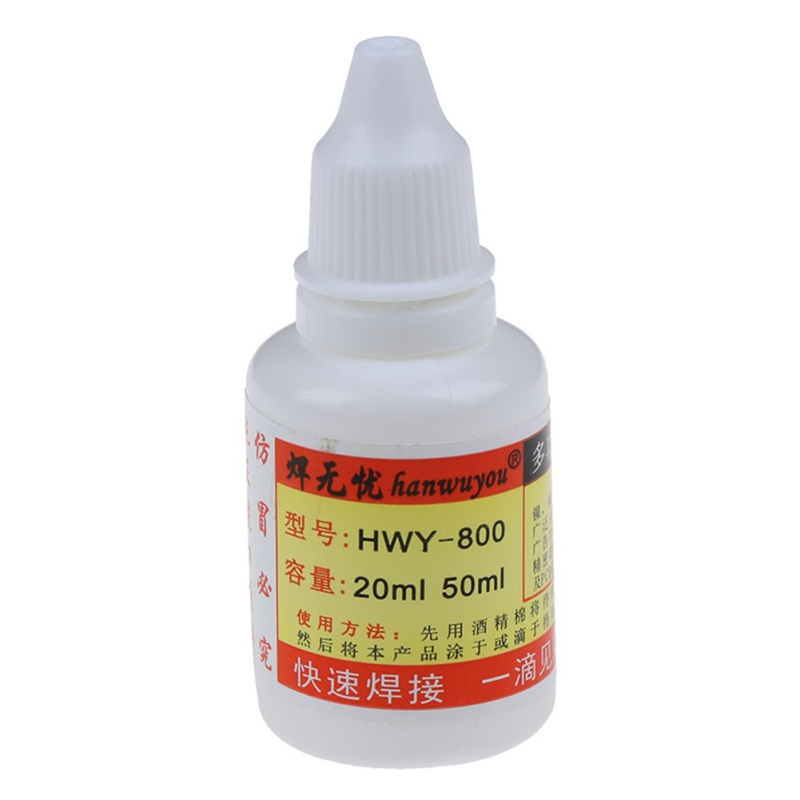 20ml Stainless Steel Flux Soldering Stainless Steel Liquid Solders Water Durable Liquid Solders Welding Strong PCB Tool New