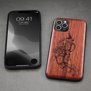 Image 5 - Carveit עבור iPhone 12 מיני פרו מקס אמיתי עץ מקרה רטרו מגולף אביזרי כיסוי מקורי עץ מעטפת דק רך egde טלפון גוף