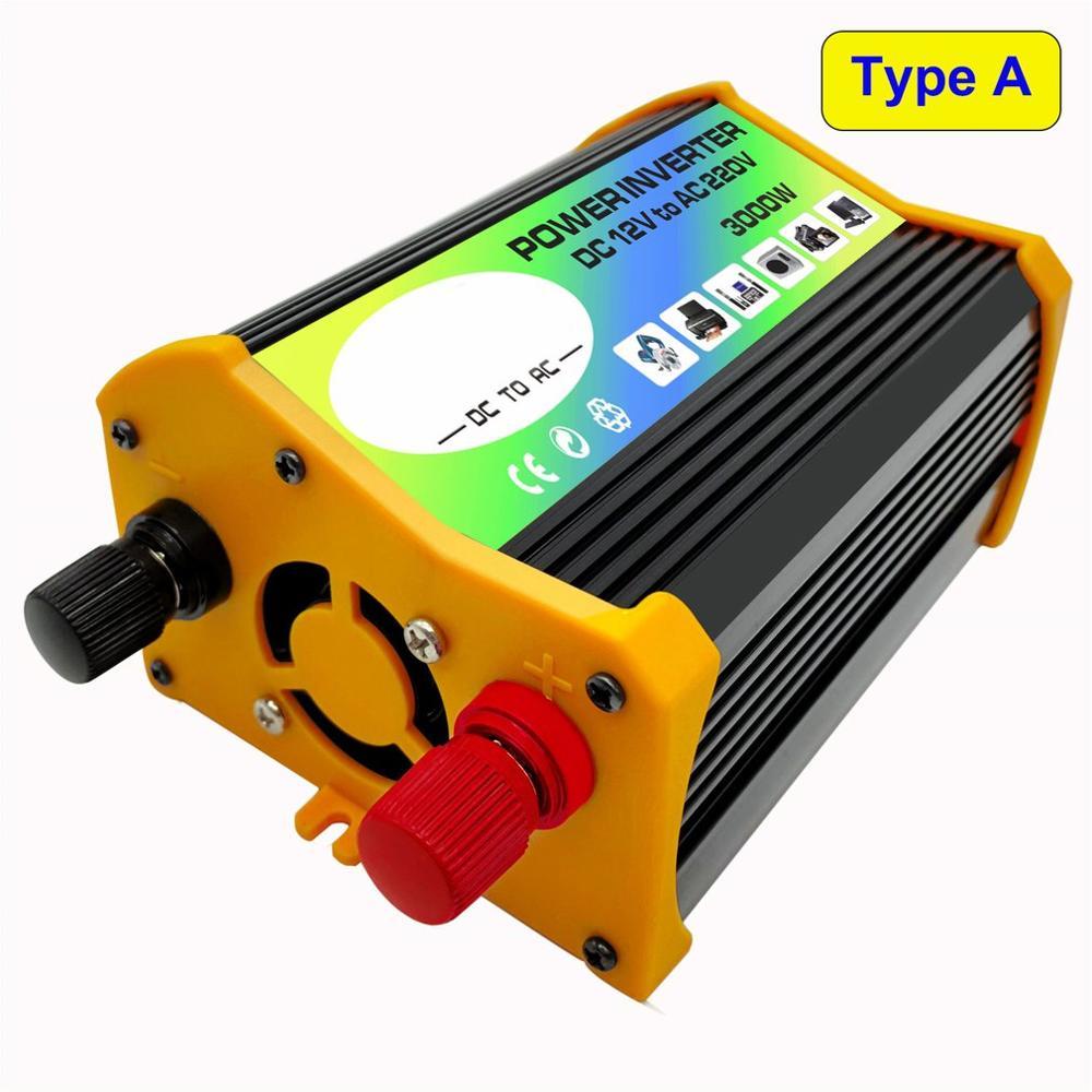 3000W 12V To 220V/110V Dual USB Car Power Inverter Converter Charger Adapter Voltage Transformer Modified Sine Wave