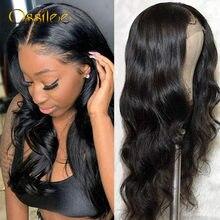 Ossilee – perruque Lace Frontal Wig brésilienne naturelle, cheveux ondulés, 13x6, 4x4/6x6, pre-plucked, pour femmes, 150%