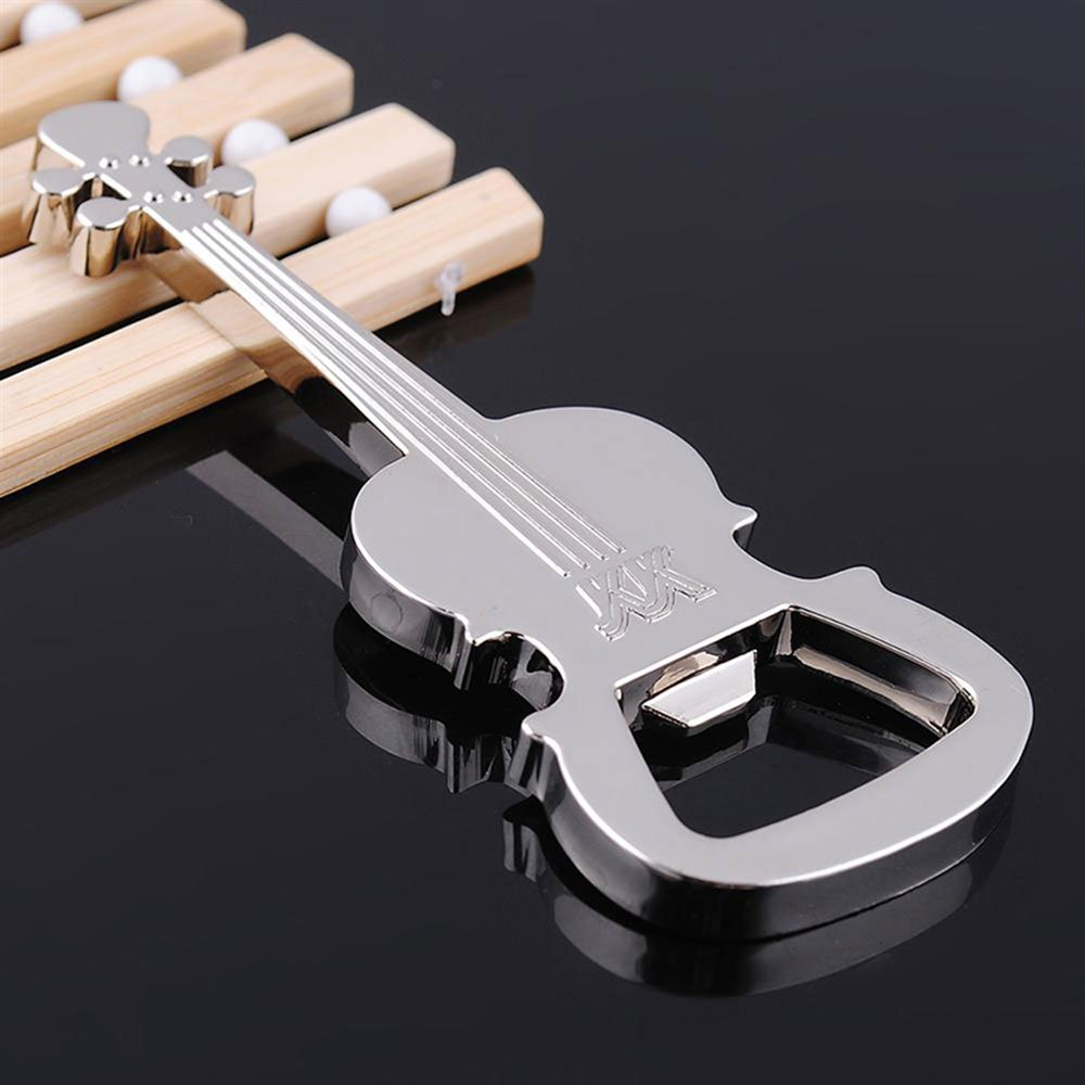 2019 Hot Sale KETTIO Bottle Opener Gift Zinc Alloy Beer Guitar Bottle Opener Keychain Keyring Key Chain Keyfob Bar Tool