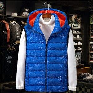 Image 2 - אפוד גברים שרוולים חזיית מעיל שחור כחול נים החורף גדול גודל 7XL 8XL 9XL 10XL עבה רוח אדם Homme חם מעיל
