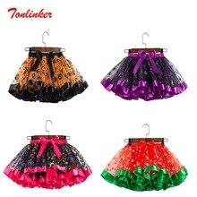 Halloween Baby Girl Skirts Underskirt Terror Pumpkin Petticoat Tutu Tulle Cosplay Carnival Costume Outfits Skirt