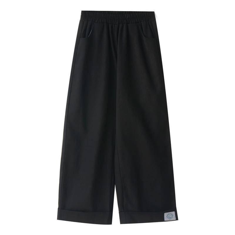 Summer Harajuku Casual Pants Women Elastic High Waist Pants Korean Ulzzang Streetwear Solid Fashion 2019 Loose Trousers Girls
