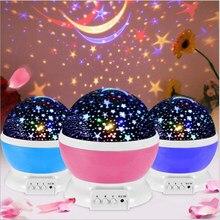 Gwiaździste niebo projektor gwiazda księżyc Galaxy lampka nocna dla dzieci dzieci sypialnia Decor projektor przedszkole lampka nocna LED lampka nocna