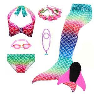 Image 2 - Sirena Code per il Nuoto Della Ragazza Balneabile Sirena Code Costumi da bagno Bikini Cosplay Costumi Per Bambini Bikini per le Ragazze di Halloween Purim