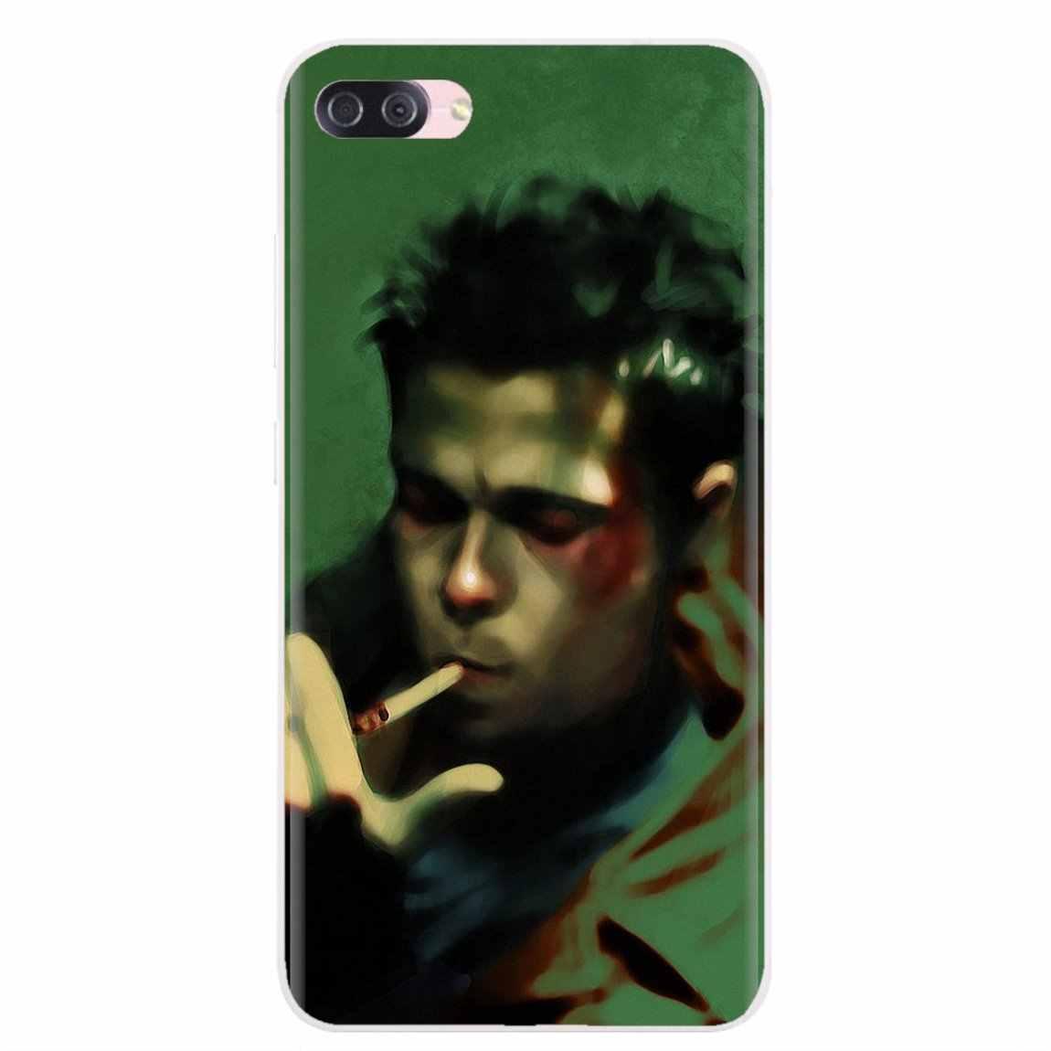 For Samsung Galaxy A3 A5 A7 A9 A8 Star Lite A6 Plus 2018 2015 2016 2017 Silicone Skin Case edward norton fight club tyler durden