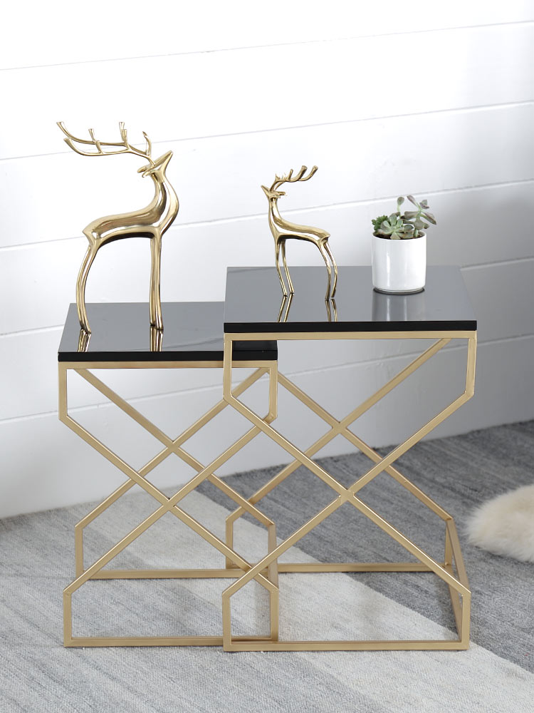 Nordic Small Coffee Table Modern Minimalist Living Room Small Family-sized Marble Coffee Table Sofa Combination Edge A Few 2019