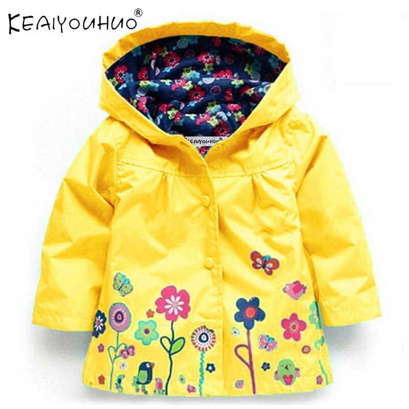 Boys Girls Toddler Kids Waterproof Windproof Hooded Jacket Rain Coat Outerwear