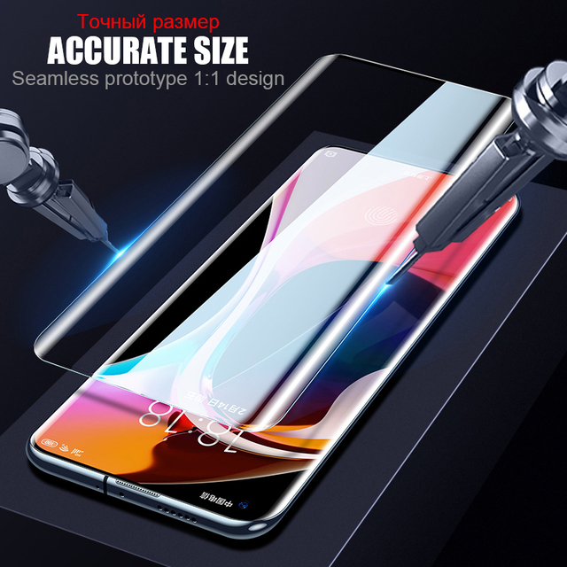 Screen Protection Tempered Glass For Xiaomi mi 10 Pro Full Glue Curved Glass For Xiaomi mi Note 10 Lite CC9 Pro Protective Film 2