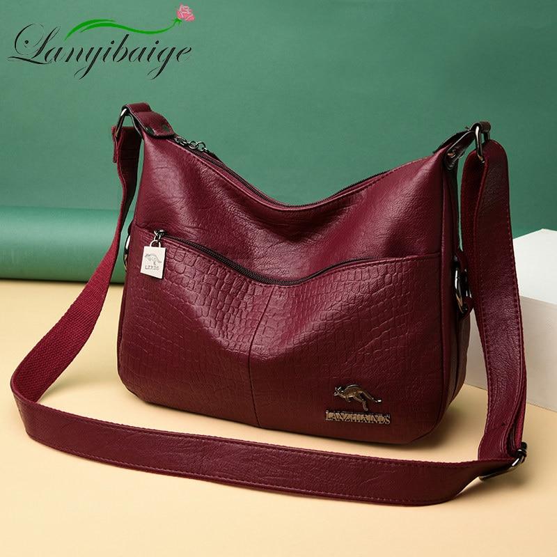 New Fashion Soft Leather Bags Women Shoulder Bags Luxury Handbags Women Bag Designer Crossbody Bags For Women 2019 Messenger Bag