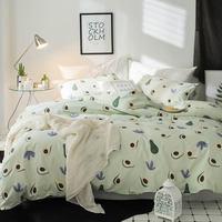 Svetanya única roupa de cama de algodão única rainha dupla king size duvet cover conjuntos|Conjuntos de cama| |  -