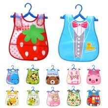 Мультяшные детские нагрудники Eva водонепроницаемые нагрудники для новорожденных Детская Отрыжка Одежда для новорожденных девочек и мальчиков шарф с животными слюнявчик полотенце фартук с принтом
