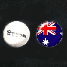 2019/New Stainless Steel World Countries Flags USA French Brooch Glass Bullets Pins Male and Female Brooches Badge Gifts